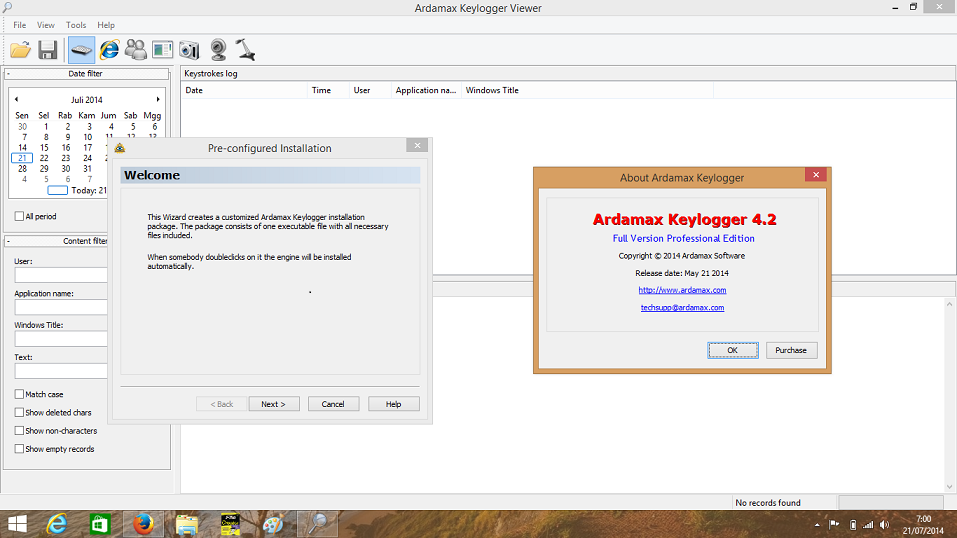Ardamax Keylogger V4.2 free download