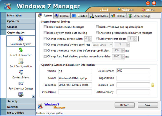 yamicsoft windows 7 manager