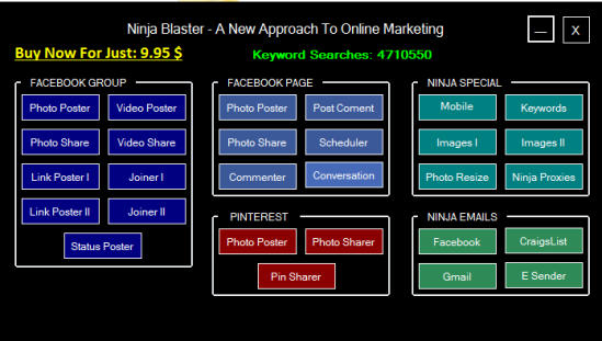 Ninja Blaster Crack 2015 Keygen & Serial Key Full Version