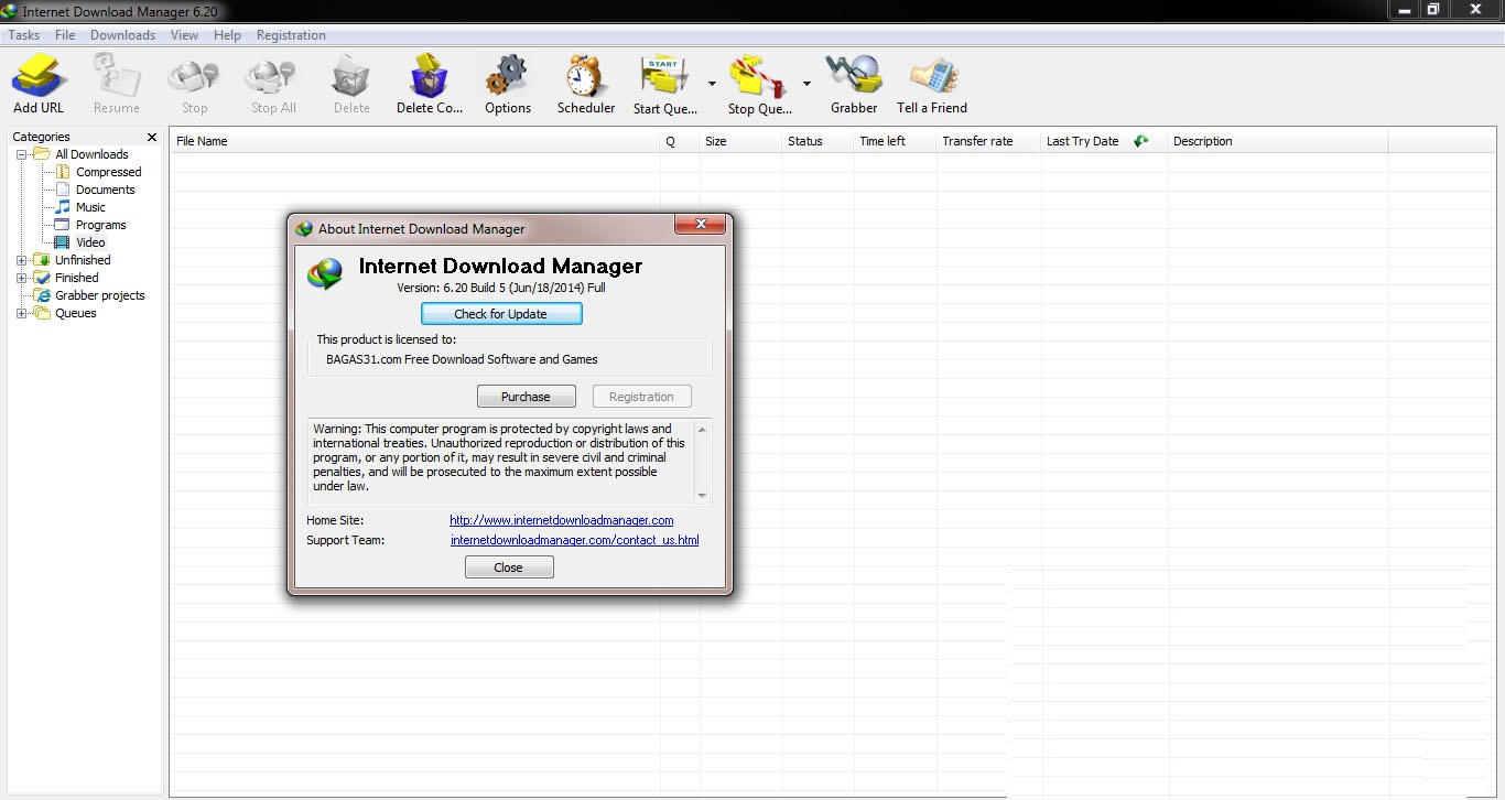 IDM 6.20 Crack Full Version With Registration Key Download