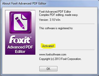 Foxit Advanced PDF Editor v 3.10 cracksfiles