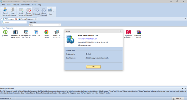 Revo Uninstaller PRO 3.1.4 Crack