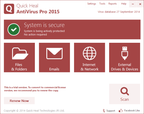 Screenshots are Quick Heal Antivirus Pro 2015 Crack