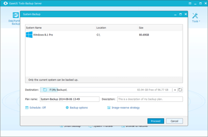 EaseUS Todo Backup Advanced Server 8.5.0 Crack Serial Key