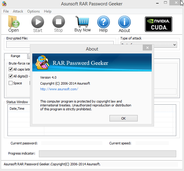 Asunsoft PDF & RAR Password Geeker v4.0 Serials