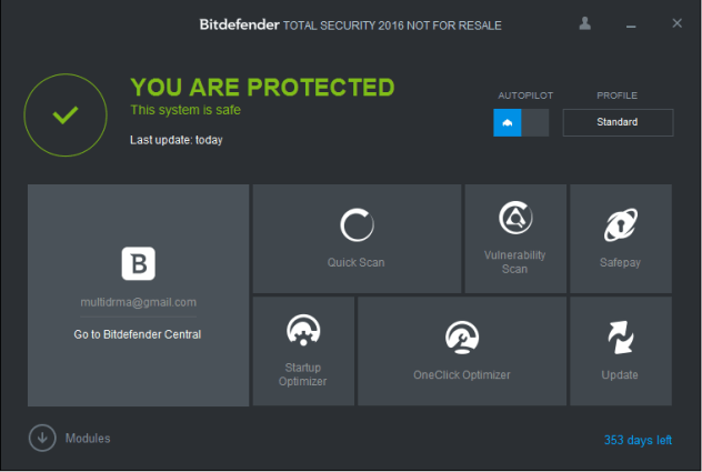 Bitdefender Total Security 2016 Activation Key Free 2