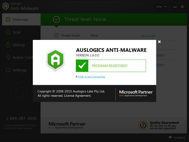 Auslogics Anti-Malware 2016 Serial Keys 2