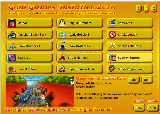 Gold Software Installer 2016