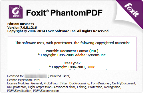 Foxit Phantompdf Business 7.3.0.118 Crack Incl Serial Key Free Download
