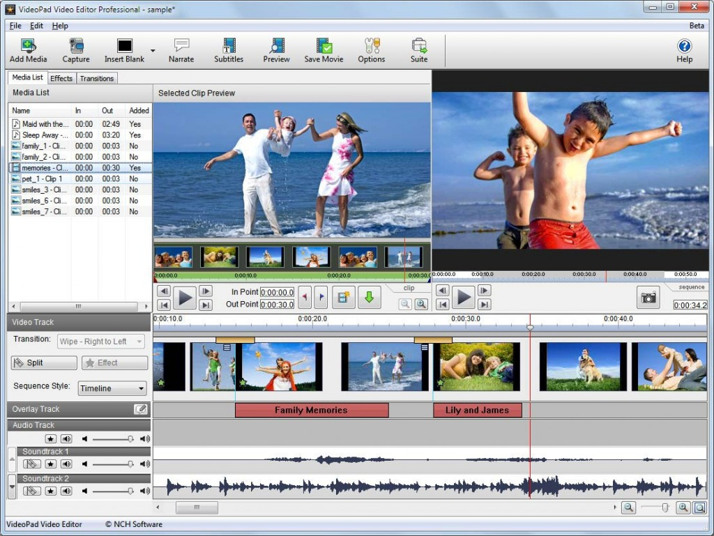 NCH VideoPad Video Editor Professional 4.31 Crack