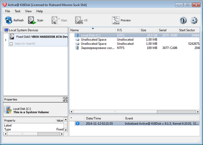 active killdisk professional 10.0.1 + key