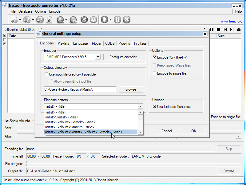 fre ac free audio converter download2